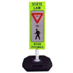 Traffic Control Td5275 Portable Sign Stand Systems Yield